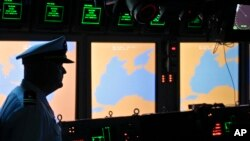 미국이 루마이나에 배치한 이지스 미사일방어체계 통제실. (자료사진)