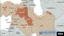 Kurdish Areas of Turkey, Iran, Syria and Iraq