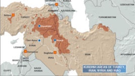Kurdish Areas of Turkey, Iran, Syria and Iraq