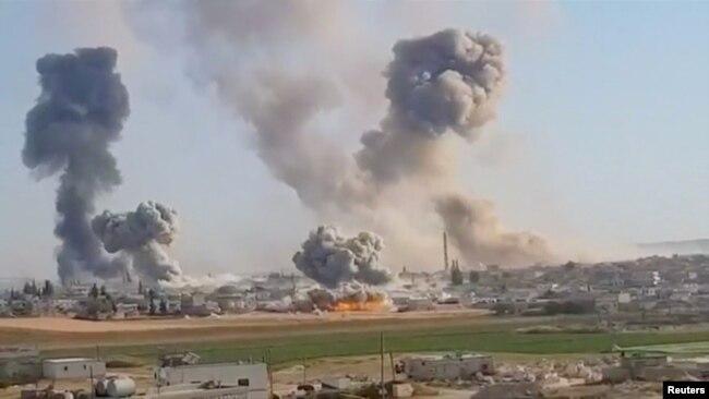 Последствия бомбардировки в Идлибе, 28 мая 2019 года