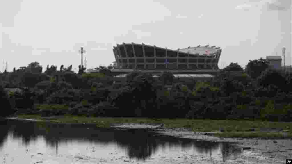 The National Theatre and its undeveloped lands are seen in Lagos, Nigeria.