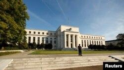 미국 워싱턴의 연방준비제도 건물. (자료사진)