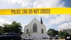 L'église de Charleston juste après l'attaque.