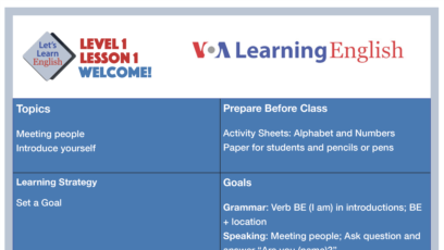Voa Learning English Let S Learn English Voa Voice Of America