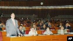 وزیراعظم گیلانی قومی اسمبلی میں تقریر کررہے ہیں