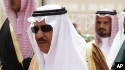 FILE - In this Tuesday, May 5, 2009 file photo, Prince Nayef bin Abdel-Aziz, is seen in Riyadh, Saudi Arabia.