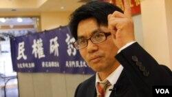 前北大法学院讲师王天成(美国之音国符拍摄)