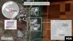 Bản đồ nhà tù Aleppo, Syria.
