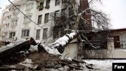 خسارت بارش سنگین برف در رشت
