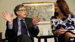 Bill Gates dan istrinya, Melinda Gates (foto: dok).