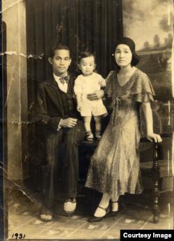 Gabe Baltazar with his parents. Gabe Baltazar, Sr. was Filipino and also a professional musician. (Courtesy of Gabe Baltazar)