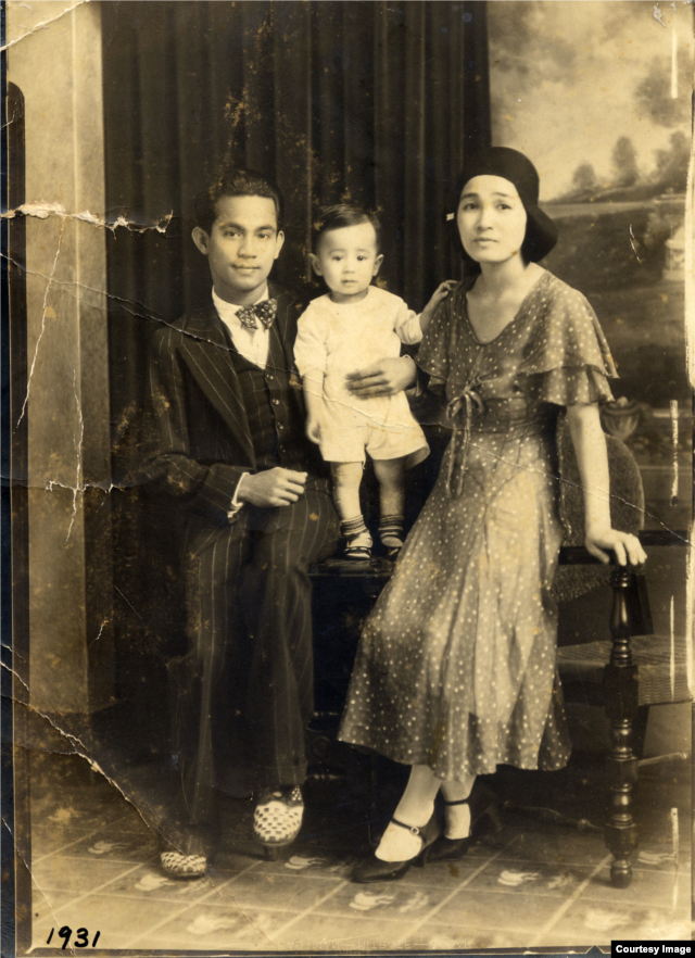 Gabe Baltazar with his parents. Gabe Baltazar, Sr. was Filipino and also a professional musician. (Courtesy of Gabe Baltazar)