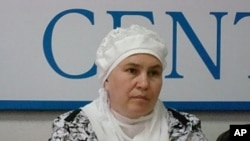 Gulnara Faizulina, wife of imprisoned Tatar Muslim, Moscow, 24 May 2010