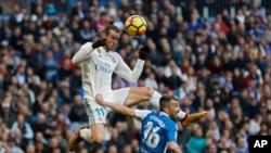Gareth Bale lors d'un match de Liga entre le Real Madrid et le Deportivo à Santiago Bernabeu, Madrid le 21 janvier 2018.