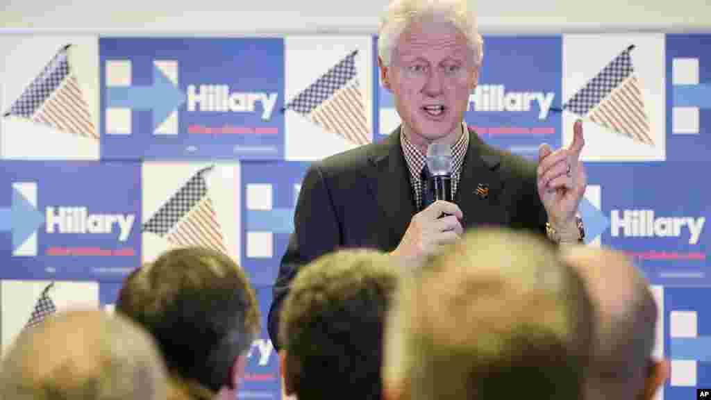 L'ancien président Bill Clinton en campagne pour soutenir l'élection de sa femme Hillary Clinton, le 9 mars 2016.