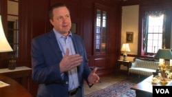 Prince William County board chair Corey Stewart lives in a historic home where George Washington once slept. (Photo: S. Baragona/VOA)