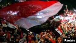 Palce Tahrir square, le 25 janvier 2014 au Caire (3è anniversaire du soulèvement égyptien).