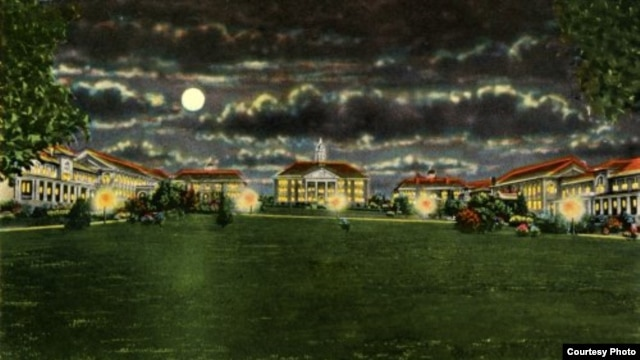 Most college campuses still look like this early postcard view of James Madison University in Virginia from the days when it was a teachers' college. (Library of Congress)