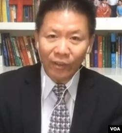 """""""對華援助學會""""創始人傅希秋博士資料照。 (美國之音2020年9月)"""
