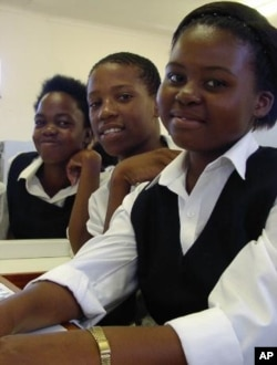 Secondary school students at KwaMhlanga High School in Mpumalanga, South Africa.