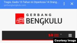 Berita Gerbang Bengkulu mengenai YY.