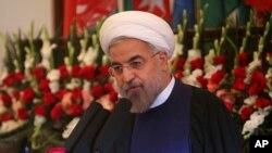 伊朗总统鲁哈尼(资料照片)