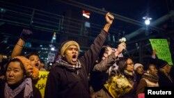 Акции протеста в Нью-Йорке. 3 декабря 2014.