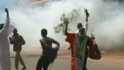 수단 하르툼 주재 미 대사관으로 향하는 반미 시위대