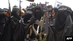 Şeriatçı el Şabap örgütünün kadın militanları
