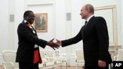 VaEmmerson Mnangagwa nemutungamiri weRussia VaVladmir Putin