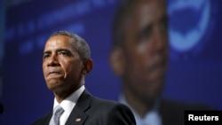 지난 19일 바락 오바마 미국 대통령이 샌프란시스코에서 열린 주지사 컨퍼런스에서 총기 사태에 관해 발언하고 있다. (자료사진)