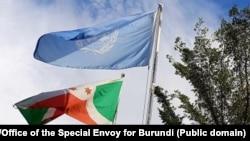 Amabendera y'Uburundi na ONU ahahora hakorera ONU mu Burundi