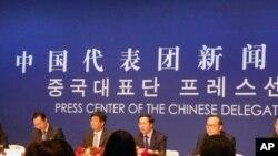 中国官员在奥胡会后举办吹风会
