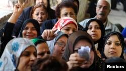 Žene glasaju na referendumu u Kairu, 15. januar 2014.