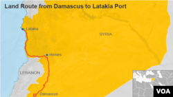 Perhaps the riskiest leg of the OCPW plan, the land route from Damascus to Latakia port