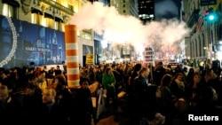 Những người biểu tình chống Tổng thống tân cử Donald Trump ở New York.
