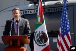 FILE - John Feeley, then-Deputy Chief of Mission of the U.S. Embassy in Mexico, speaks in Mexico City, Nov. 8, 2010.