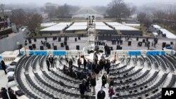 Подготовка к 57-й торжественной президентской инаугурации. Капитолий, Вашингтон.