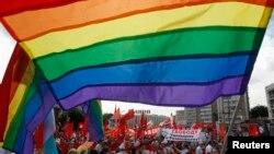 ჰომოსექსუალისტების მხარდამჭერთა აქცია მოსკოვში, 13 ივნისი, 2013