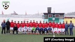 تیم ملی فوتبال افغانستان با ترکیب از بازیکنان ساکن در داخل و خارج افغانستان در کابل.