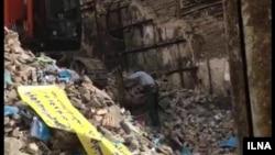 تصویری از خرابههای بانک ملی نسیم شهر بهارستان