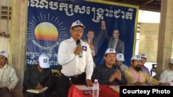 "San Soeurng, 59, CNRP head in Kampong Cham province, who is also on the government's list, said the lawsuit violated his right to political freedoms. ""I have not done anything wrong, with the constitution or other laws,"" he said. (Courtesy photo)"