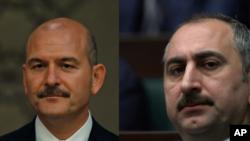 Türkiyənin daxili işlər naziri Süleyman Soylu və ədliyyə nazirii naziri Əbdülhəmid Gül