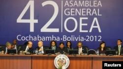 El 42 período de sesiones de Asamblea General de la OEA se efectúa en Bolivia.