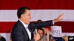 前麻萨诸塞州州长罗姆尼2月2日在内华达州竞选