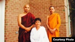 Sar Sun Theary, middle, a Cambodian-American meditation practitioner, will join the meditation retreat at Wat Bo on April 23, 2017. (Courtesy photo provided by Sar Sun Theary)