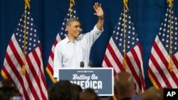 Tổng thống Barack Obama nói chuyện tại một trường học ở Poland, Ohio, 6/7/2012