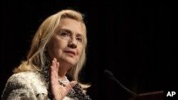 美國國務卿克林頓星期五在紐約的經濟俱樂部發表講話