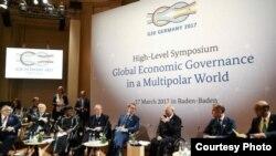 جرمنی میں جی 20 کانفرنس کا ایک منظر- 17 مارچ 2017