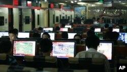 中國北京的一家網吧。